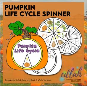 Pumpkin Life Cycle Spinner