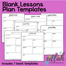 Various Basic Lesson Plan Templates - No Pictures