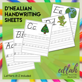 D'NEALIAN Lettering Practice A-Z - Full Color Version