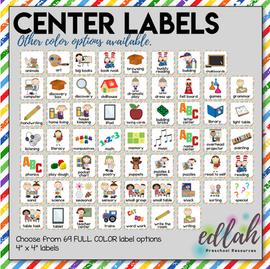 Center Labels- Rainbow