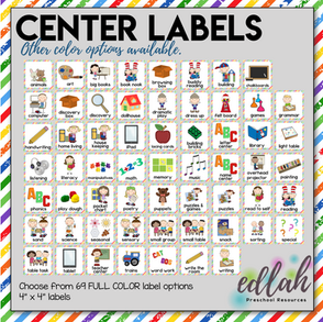 Center Labels- Rainbow