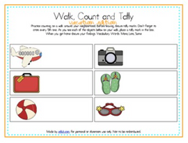 Walk, Count and Tally-Vacation Edition