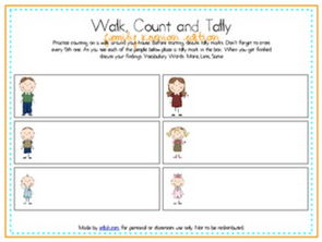 Walk, Count and Tally-Family Reunion Edition