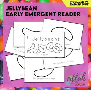 Easter Early Emergent Reader - Black & White Version