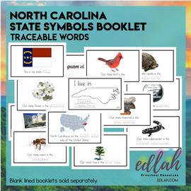 North Carolina State Symbols Booklet - Traceable Words