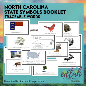North Carolina State Symbols Booklet - Traceable Words