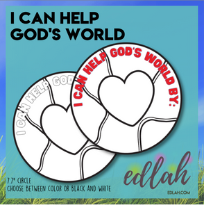 I Can Help God's World - Earth Day Activity