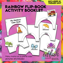 Rainbow Flip Book - Full Color Version and Black & White Version Included