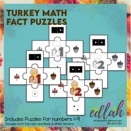 Turkey Counting Puzzles (number 1-9)