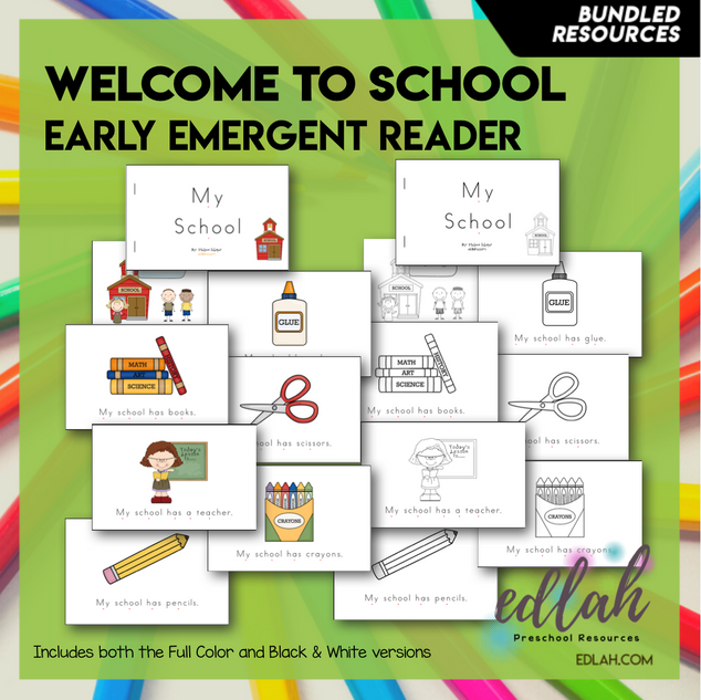 Welcome to School Early Emergent Reader - BUNDLE