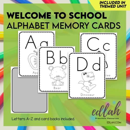 Alphabet Memory Cards - Black & White Version