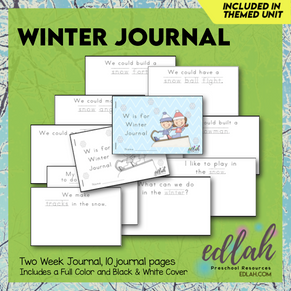 Winter Printable Journal