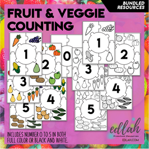 Nutrition Number Puzzles 0-5