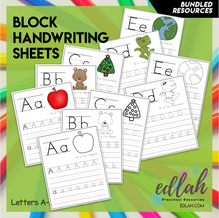 BLOCK Lettering Practice A-Z - BUNDLED