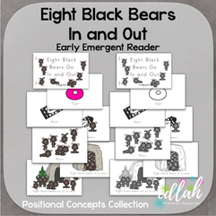 Eight Black Bears Early Emergent Reader (In & Out) - BUNDLE