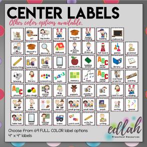 Center Labels- Gray Poke-a-Dot