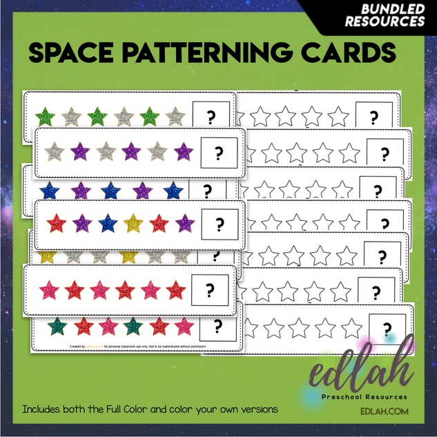 Space/Star Patterning Cards BUNDLE
