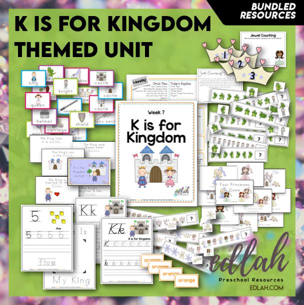 K is for Kings Themed Unit-Preschool Lesson Plans
