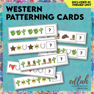Western Patterning Cards - Full Color Version
