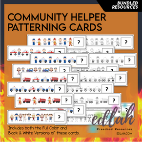 Community Helper Patterning Cards - BUNDLE