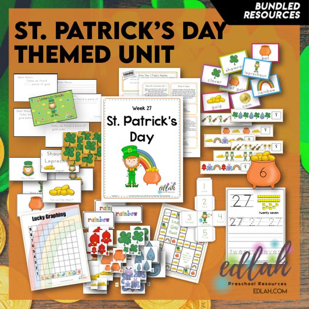 St. Patrick's Day Themed Unit-Preschool Lesson Plans