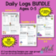 Daily Logs for Infants, Toddlers, and Preschool Parent Communication
