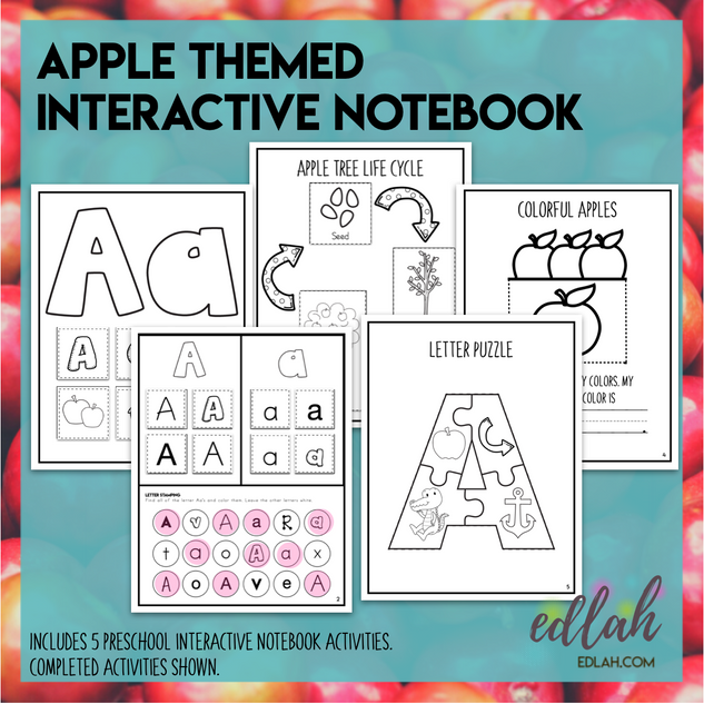 A is for Apple - Interactive Notebook