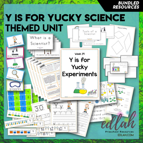 Y is for Yucky Experiments Themed Unit-Preschool Lesson Plans
