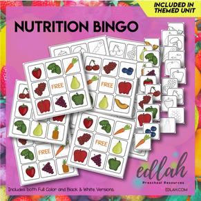 Nutrition/Food Bingo