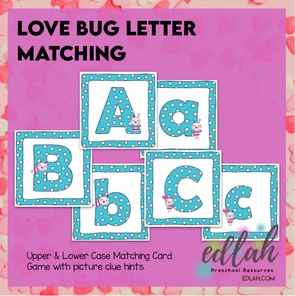 Love Bug Letter Matching