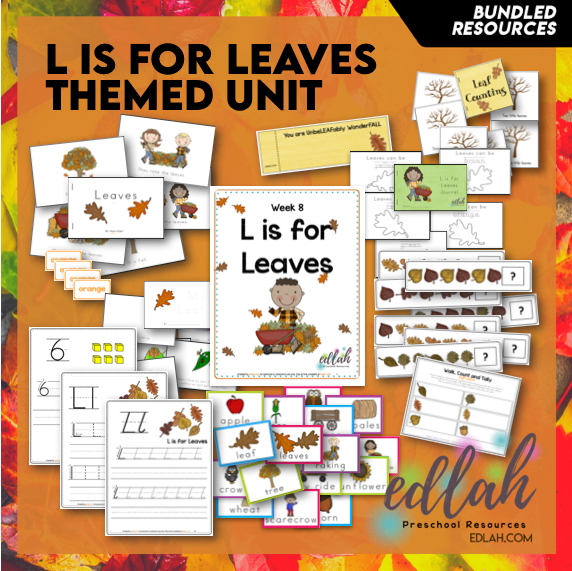 L is for Leaves Themed Unit-Preschool Lesson Plans