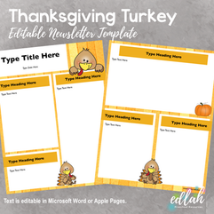 Thanksgiving Turkey Newsletter for WORD or PAGES_Generation 2