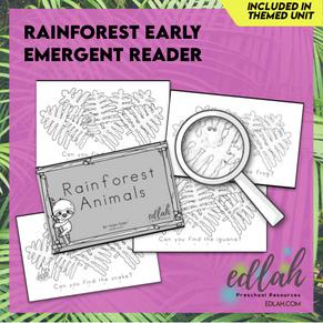 Rainforest Early Emergent Reader - Black & White Version