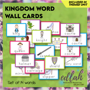 Fairy Tale Vocabulary Word Wall Cards (set of 14 Words) - Full Color -Version#1