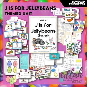 J is for Jellybean/Easter Themed Unit-Preschool Lesson Plans