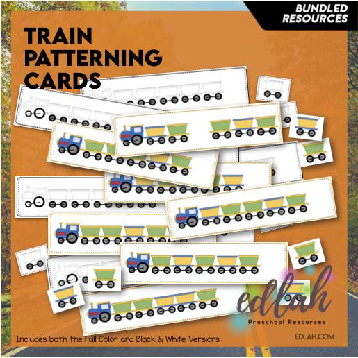 Train Patterning Cards - Bundle