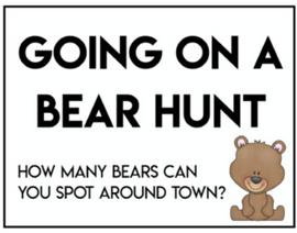 Neighborhood Bear Hunt Sign - FREE