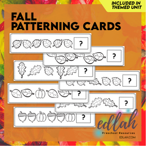 Fall Patterning Cards - Black and White Version
