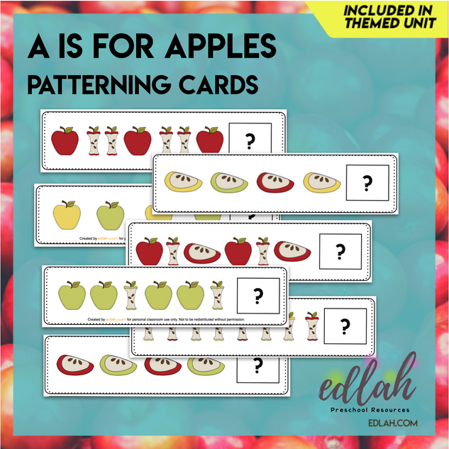 Apple Patterning Cards - Full Color Version