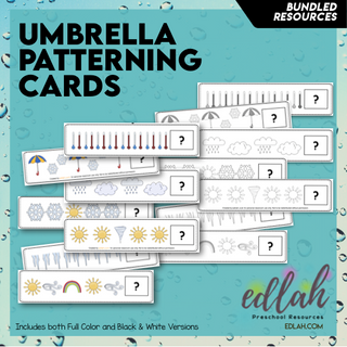 Umbrella/Weather Patterning Cards - BUNDLE