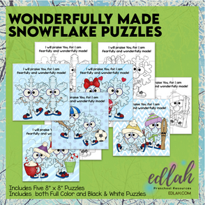 Unique Like a Snowflake Puzzles
