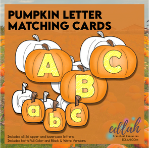 Pumpkin Letter Matching Cards (upper & lowercase)