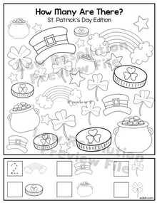 """St. Patrick's Day """"How Many Are There"""" Activity Sheet"""
