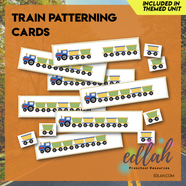 Train Patterning Cards - Full Color Version