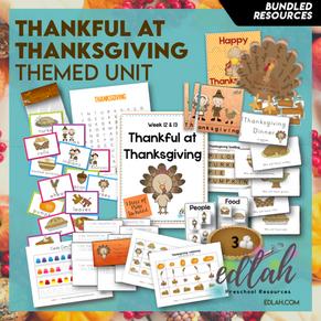 Thankful at Thanksgiving Themed Unit-Preschool Lesson Plans