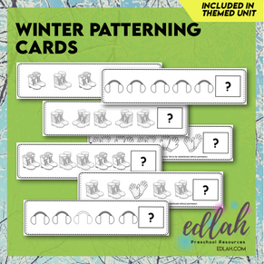 Winter Patterning - Black & White Version