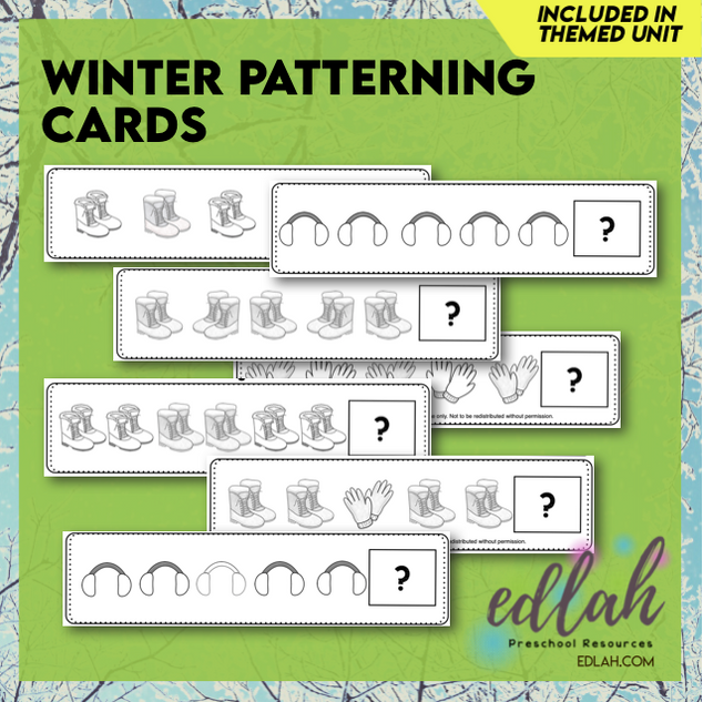 Winter Patterning - Black & White Version