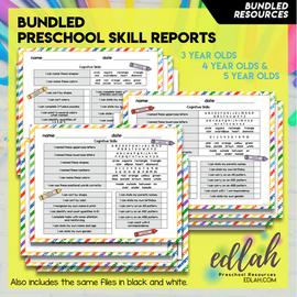 Preschool Skill Report Bundle