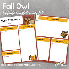 Fall Owl Newsletter for WORD or PAGES_Generation 2