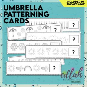 Umbrella/Weather Patterning Cards - Black & White Version